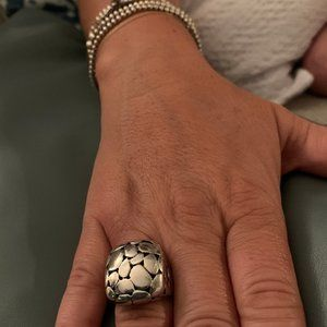 Sterling Silver Rock Ring Size 7